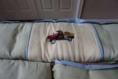 Wendy Bellissimo Crib Bedding: Vintage Fire Truck in Chicago, Illinois