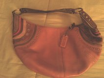 Coach pink leather purse in Naperville, Illinois