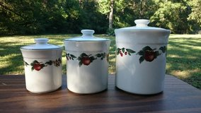 Apple and Blossom Canister Set in Coldspring, Texas