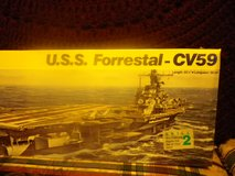Revell USS FORRESTAL CV59 US Navy Carrier Model Kit 1989 in Camp Lejeune, North Carolina