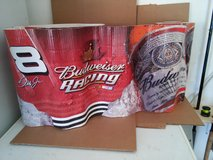 "50' of nascar/BUDWEISER #8  BANNER 16"" tall great for the garage in Batavia, Illinois"