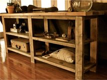 Wood console sofa table shelf pallet in Camp Lejeune, North Carolina