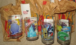 "McDonalds/Walt Disneyworlds 100th Anniversary 5"" glasses-set of 4-NEW in Westmont, Illinois"