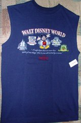 Collectors Walt Disneyworld new sleeve-less tee, size small in Westmont, Illinois
