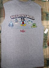Collectors Walt Disneyworld new sleeve-less tee, size small, gray in Bolingbrook, Illinois