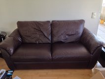 Brown leather 3 seater sofa in Wiesbaden, GE