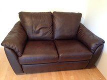Brown leather 2 seater sofa in Wiesbaden, GE