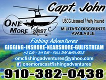 Fishing trips in Camp Lejeune, North Carolina