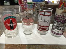 4 Vintage Coca-Cola Glasses in Fort Campbell, Kentucky