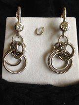 Signed Judith Ripka Dangle CZ/Sterling Earrings ~ Sold Out! in Okinawa, Japan