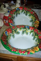 (2) Big plastic Christmas bowls in Conroe, Texas