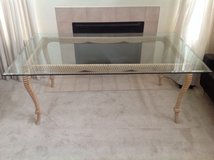 Carved & Limed Light Wood Knotted Rope Dining Table(6ft x 3.5ft) in Naperville, Illinois