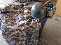 7-8 yr, Halloween Camouflage jumpsuit with helmet in Chicago, Illinois