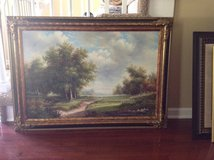Large oil painting in Fort Campbell, Kentucky
