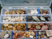 Assorted polished rocks in Alamogordo, New Mexico