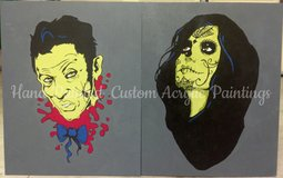 Zombie Dia De Los Muertos Couple- hand painted in Temecula, California