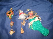set of 3 western themed Christmas ornaments in Okinawa, Japan