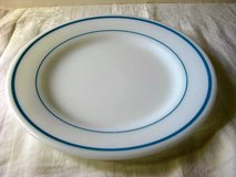 "Pryex 9"" blue ring dinner plate in Okinawa, Japan"