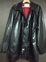 Black Men Faux Leather Jacket in Yongsan, South Korea