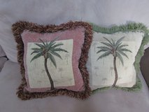 Palm Tree Throw Pillows(2) in Lockport, Illinois