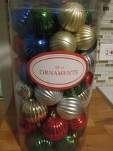 60 Christmas Ornaments Large Container in Naperville, Illinois