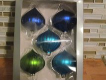 5 Glass Ornaments in Box in Naperville, Illinois