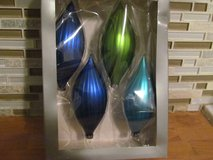 4 Glass Ornaments in Box in Naperville, Illinois
