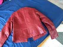 Red leather Jacket in Okinawa, Japan