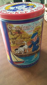 Cracker Jack tin can in The Woodlands, Texas