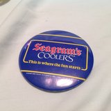 Vintage Seagram's Coolers Ths is where the fun starts Beer Alcohol Button Pin in Kingwood, Texas
