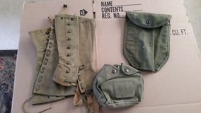 Vintage WW II military items in Camp Lejeune, North Carolina