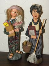 Funny Laundry Lady & Grocery Girl Figures in Naperville, Illinois