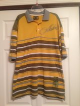 AKADEMIKS OLIVE GREEN/GOLD POLO in Fort Riley, Kansas