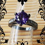 New - Purple Amethyst and Black Ring - Size 7 in Alamogordo, New Mexico