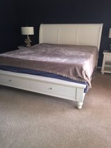 MOVING MUST SELL - Aspen Sleigh Bed & Temper Pedic Mattress in Kingwood, Texas
