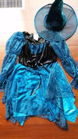 Blue Sparkle Witch Costume Sz 7-8 in Bartlett, Illinois