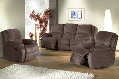 Oleron Recliner LivingroomSet - in Grey Microfiber - monthly payments possible in Ansbach, Germany