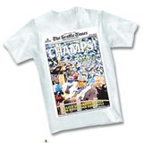 SEATTLE SEAHAWKS - Seattle Times Headline Super Bowl Championship T-Shirt ** NEW in Fort Lewis, Washington