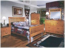 Pine Mission Queensize Bedset - monthly payments possible in Ansbach, Germany
