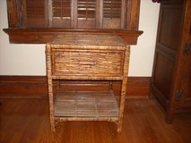 Wicker end table with drawer in Kansas City, Missouri