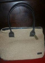 THE SAK leather and knitted tan handbag in Macon, Georgia