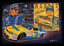 "AUTOGRAPHED DALE EARNHARDT LICENSED PRINT BY SAM BASS - ""BLAST FROM THE PAST"" in Warner Robins, Georgia"