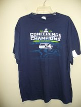 SEAHAWKS 2013 Conference Champions (NAVY) Men's XL T-shirt ** NEW w/ TAGS** in Fort Lewis, Washington