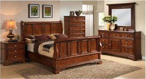 Bedset Eldorado - Queen Size in Cherry/Mahogany Color - monthly payments possible.- also in King... in Ansbach, Germany