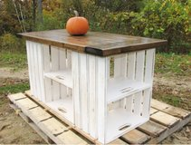 Wood wine Apple crate island storage table in Camp Lejeune, North Carolina