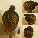 Kids braids in Schofield Barracks, Hawaii