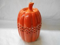 Decorative Ceramic Pumpkin Candle Holder in The Woodlands, Texas