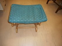 Wooden frame Fabric Padded Top Rocking swinging foot rest ottoman in Chicago, Illinois