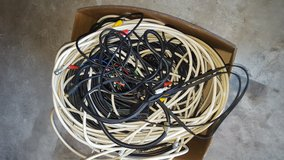 Box of Cables, Adaptors, and Wiring for Audio/Visual Components in Fort Leonard Wood, Missouri