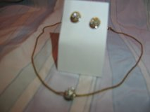 Gold Ball Necklace and Earring Set in Camp Lejeune, North Carolina
